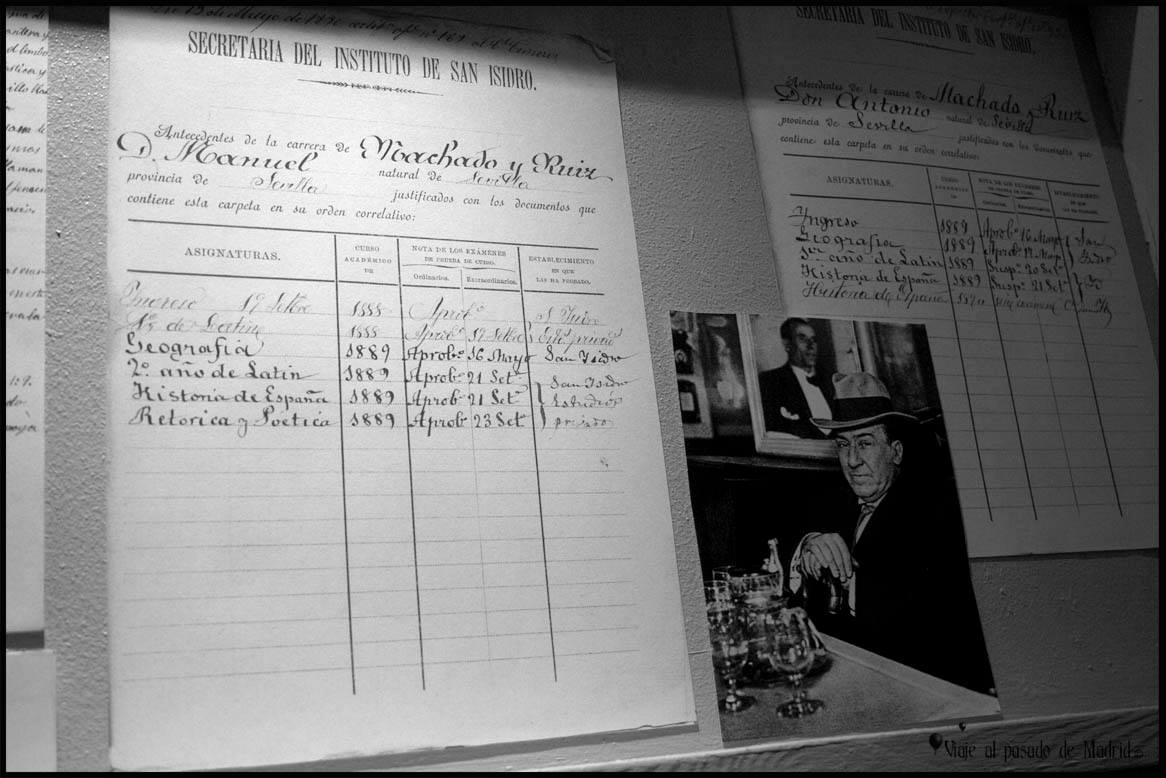 Libro de calificaciones de Antonio Machado