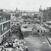 Gran vía de Madrid en el proceso de construcción