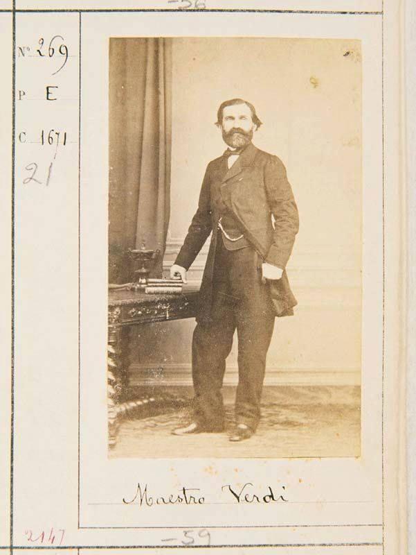 Retrato fotográfico de Giuseppe Verdi