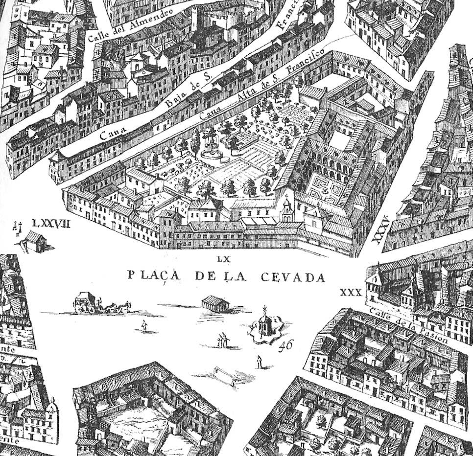 Mapa del Mercado de la Cebada S.XVI