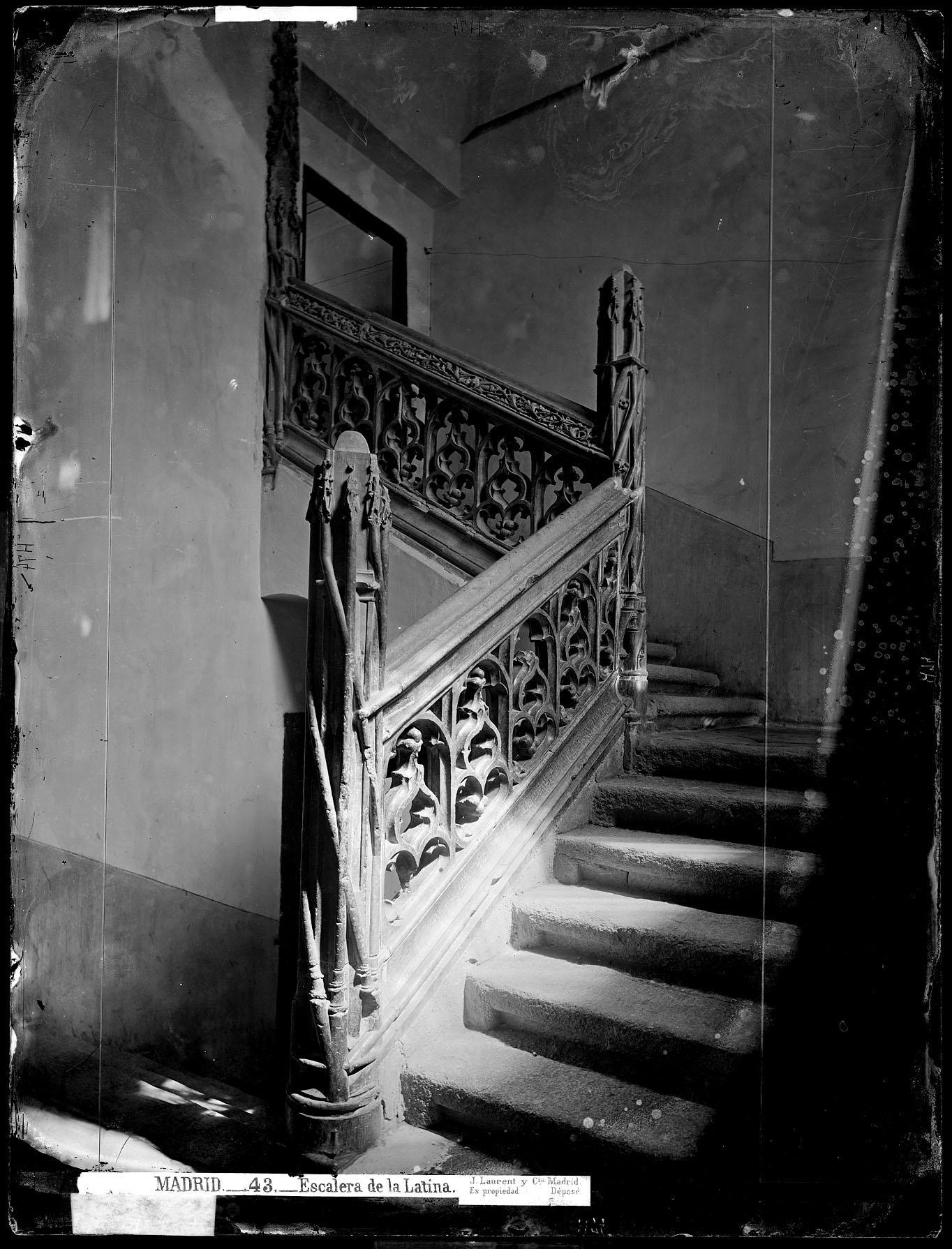 Escalera del Hospital de La Latina S.XIX J. Laurent
