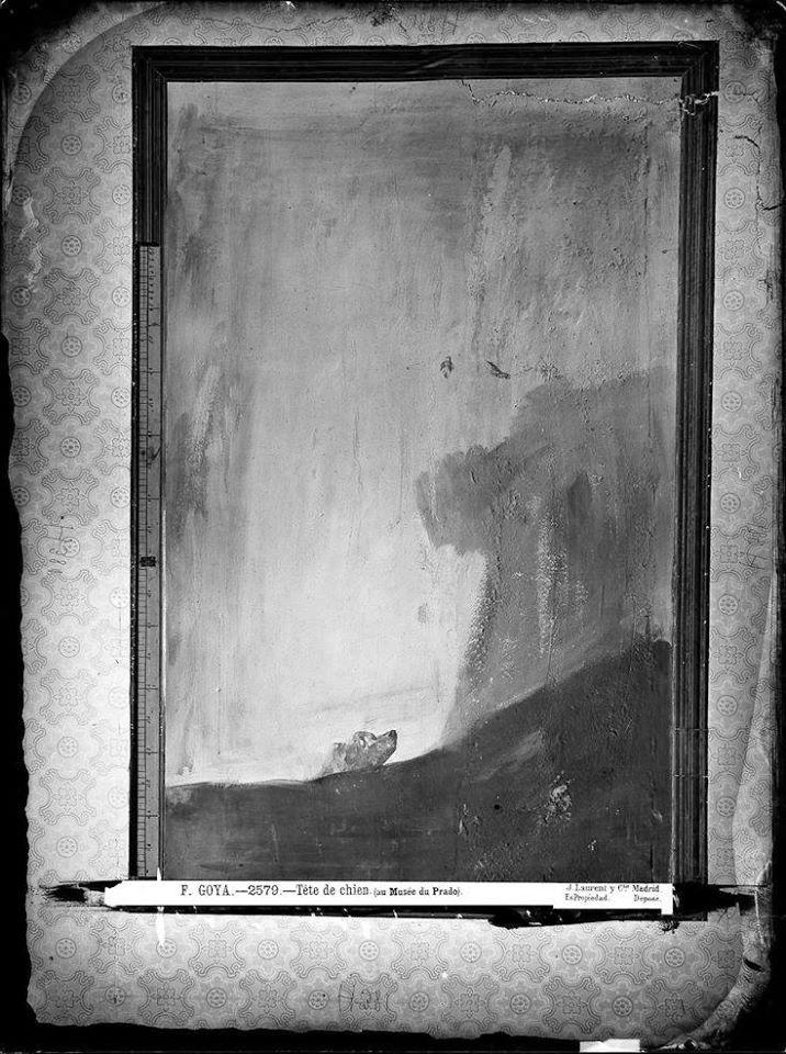 Fotografía realizadas por Laurent en la Quinta del Sordo, 1874, el mismo año de la retirada de las pinturas.