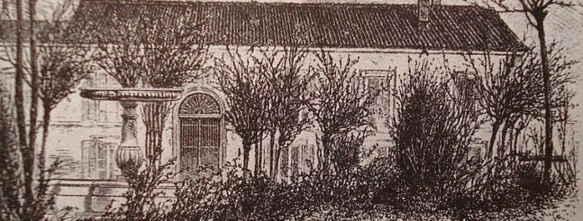 """Grabado del libro Goya de Charles Yriarte, publicado en París en 1867, dentro del capítulo """"La Maison de Goya"""