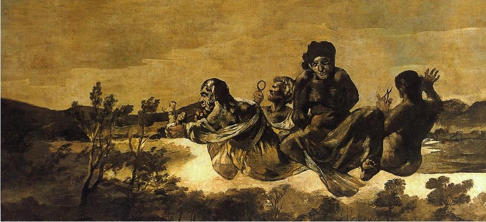 Átropos o Las Parcas. (1819-1823) Francisco de Goya. Museo Nacional del Prado.