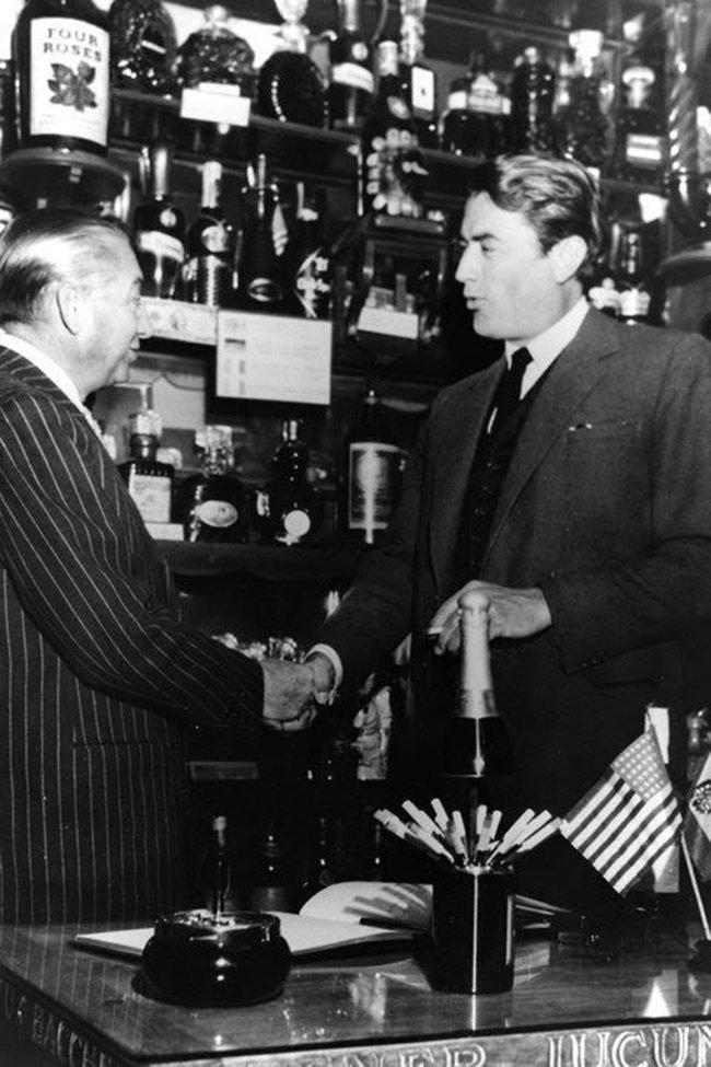 Pedro Chicote con Gregory Peck