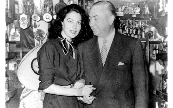 Pedro Chicote con Ava Gadner