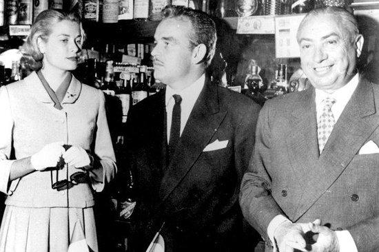 Pedro Chicote con Rainiero de Mónaco y Crace Kelly