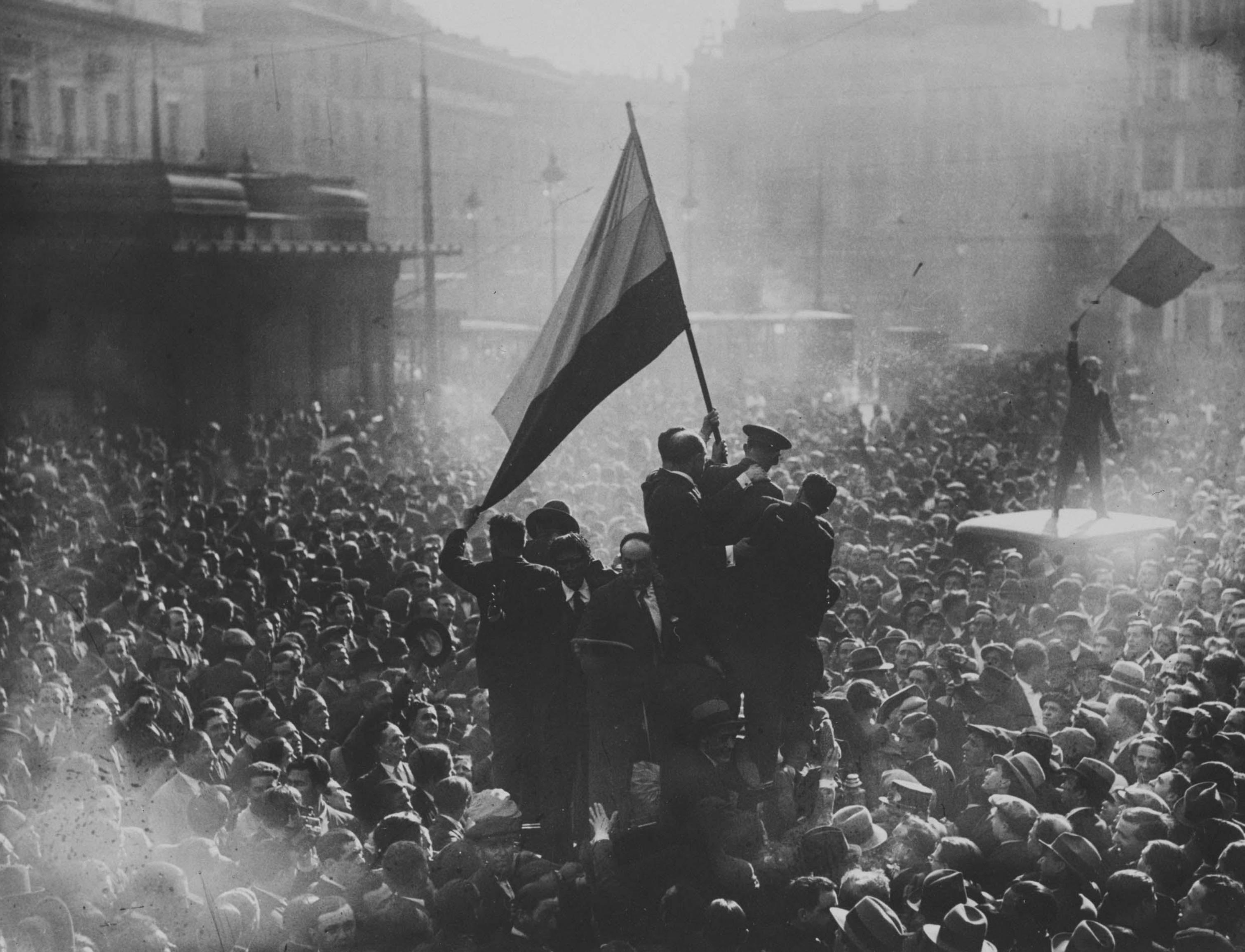 Proclamación de la II República. Alfonso Sánchez Portela. 1931.