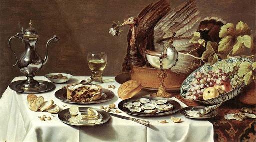 Bodegón de alimentos en el Siglo de Oro