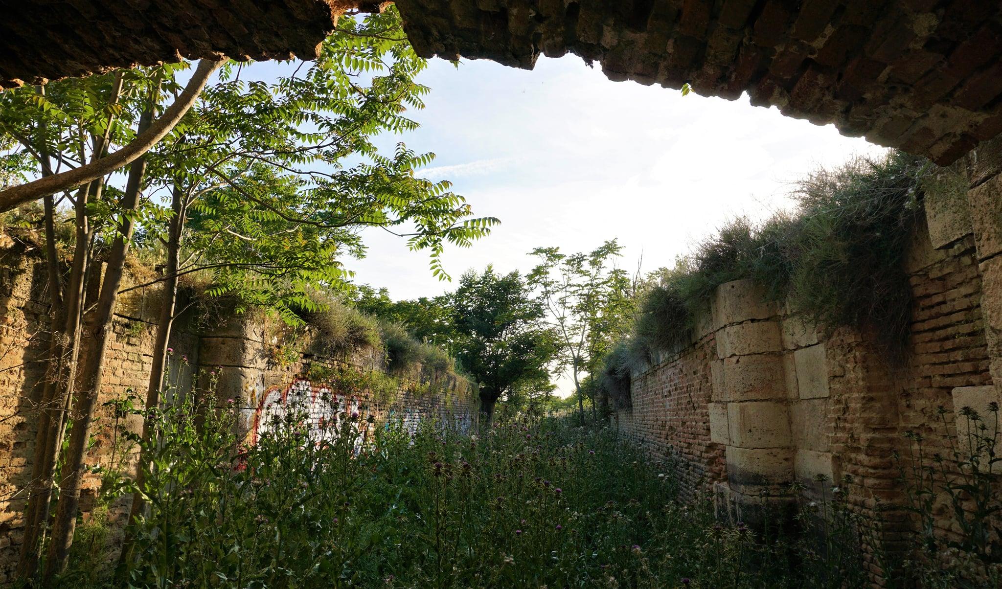 Última esclusa, la número 10 del proyecto del Canal navegable del Manzanares. Fotos: Juan Ruiz Ibáñez