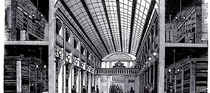 Litografía del Pasaje de Matheu en el S. XIX