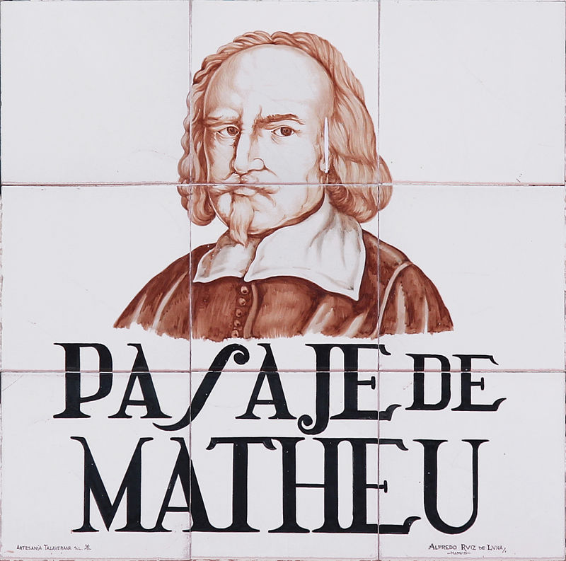 Placa de azulejos del pasaje Matheu. Fot. Luis García.